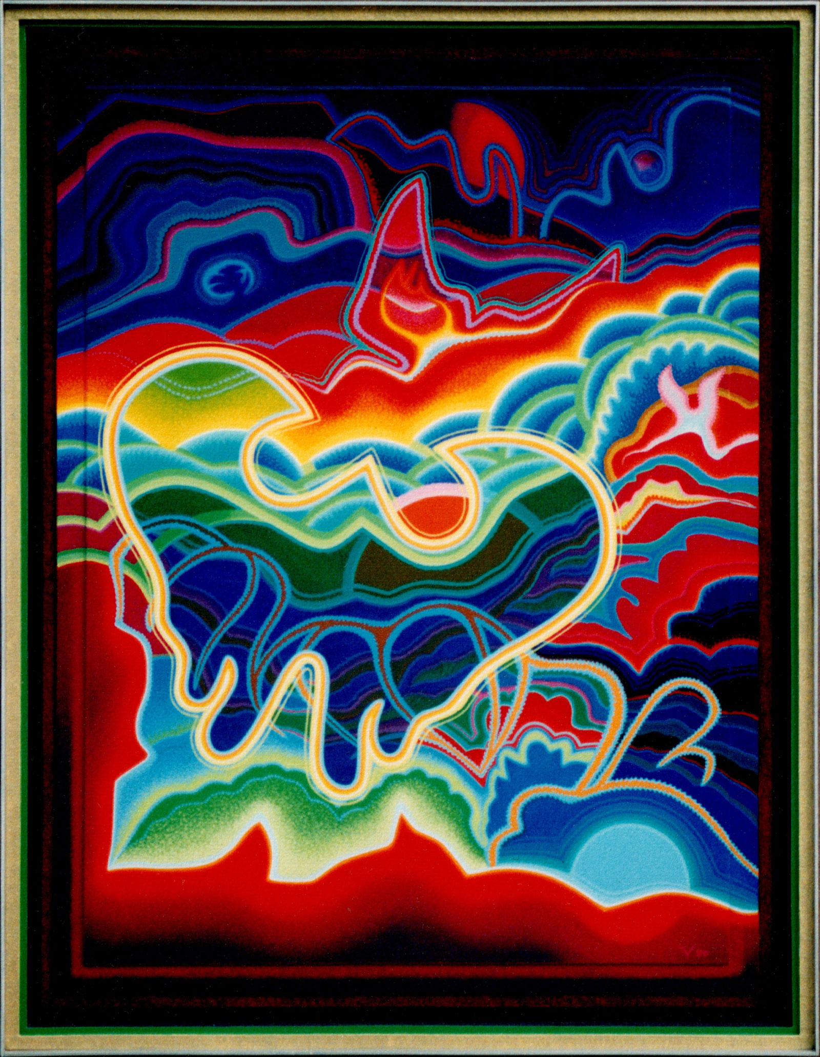 Angels Peak, Acrylic, 1990, 35.5x27.5